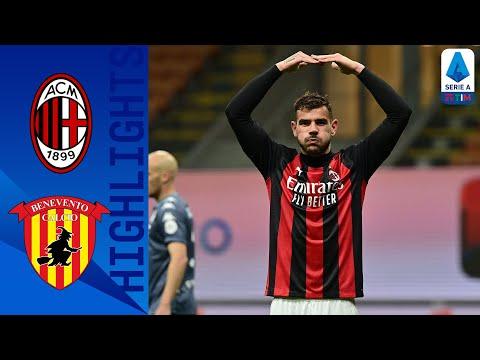 Milan 2 0 Benevento Milan Back to Winning Ways Serie A TIM