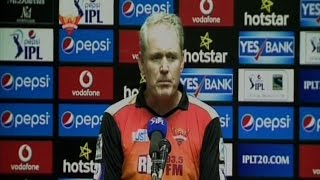 Sunrisers Hyderabad Out of IPL 8; Unhappy Coach Reacts