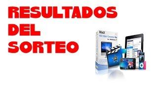 RESULTADOS DEL SORTEO  PARA MacX HD Video Converter Pro