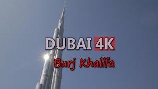 Ultra HD 4K Dubai Travel Burj Khalifa Tower UAE Tourism Tourist Attraction UHD Video Stock Footage