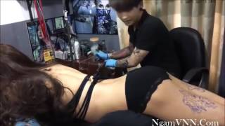 hot girl tattoo artist met him hard