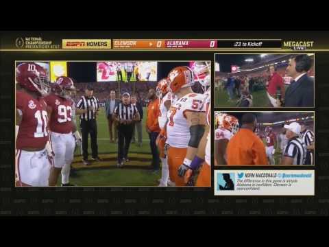 2016 CFP National Championship Homers Megacast 2 Clemson vs. 1 Alabama HD