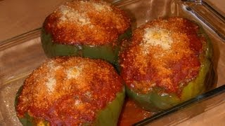 Stuffed Green Bell Pepper Cups with Michael