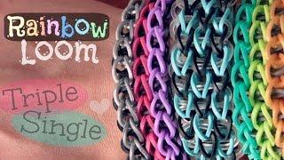 Rainbow Loom : Triple Single Bracelet - How To