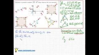 Comment calculer un produit scalaire dans le plan - 1ere S - les différentes techniques - IMPORTANT