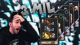 3 MILLION COIN NBA LIVE MOBILE PACK OPENING!!