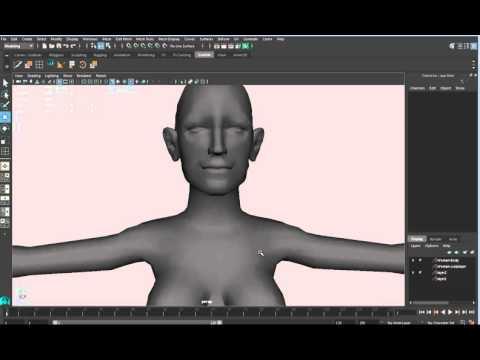 Eva Green Head modeling in Maya 2016 13 Breast and body tweaks