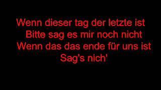 Der Letzte Tag   - Tokio Hotel Lyrics