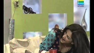 saba qamar cleavage on live show down blouse