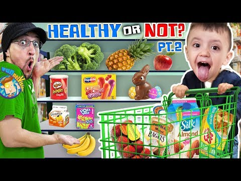 SHAWN goes GROCERY SHOPPING AGAIN Healthy Food or Not Vision PART 2 FUNnel Fam Vlog