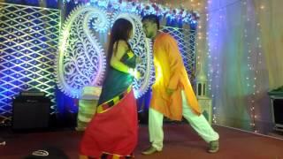 dhakai shari dance (dipon & sathi)