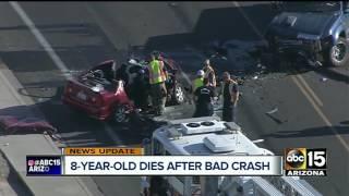 NEW: Young girl dies after north Phoenix car crash