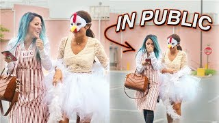 Halloween Costumes in Public Challenge: Sister vs Sister
