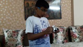Atharv solving 4 different cubes in less than 5 minutes