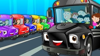 The Wheels On The Bus Go Round And Round | Nursery Rhymes | Kids Songs