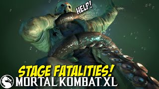 F#%KING DOPE!!! STAGE FATALITIES! [MKXL]