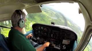 Flight over the Grand Canyon of PA in Cessna 172P