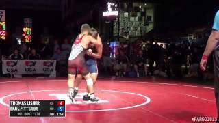145 7th Place - Paul Fitterer (Minnesota) vs. Thomas Lisher (Kansas)