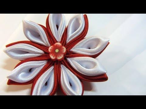 Tutorial Flores Kansashi. Kansashi flowers.