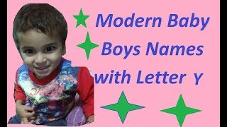Modern Baby Boy Names with Letter Y