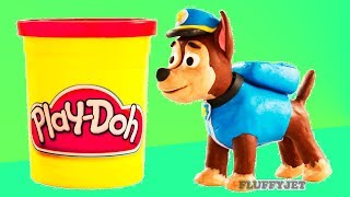 Paw Patrol Chase Spiderman Play Doh Stop Motion video Marvel Superhero toys kids playtime