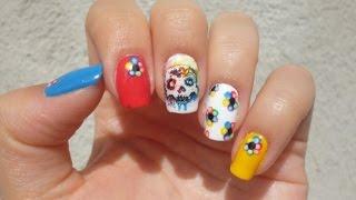 Sugar Skull Nail Art | Halloween Nails 2015