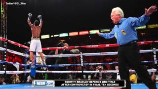 Timothy Bradley Defends WBO Title After Controversy In Final Ten Seconds
