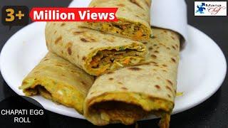 Chapati Egg Roll Recipe In Telugu