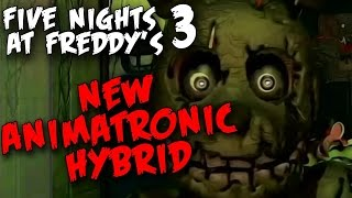 FNAF 3 TRAILER EXPLAINED WITH GAME SCREENSHOTS!-Five Nights At Freddy's 3 New Animatronic Hybrid !