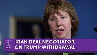 Iran deal negotiator reacts to Trump