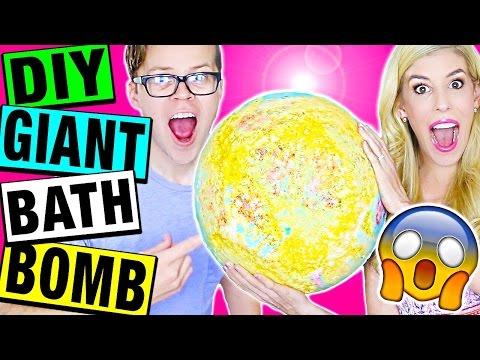 DIY GIANT BATH BOMB! How To Make a HUGE Rainbow Bath Bomb!