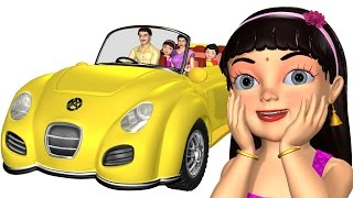 Wheels on the Car | Driving in My Car | 3D Baby Songs & Nursery Rhymes for Children