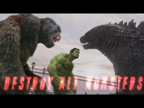 King Kong vs Godzilla vs Avengers Mashup - Destroy All Monsters (Fan Trailer)