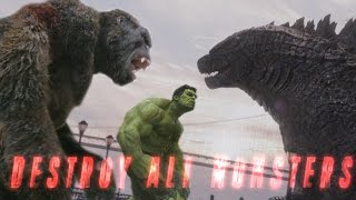 King Kong vs Godzilla vs Avengers Mashup - Destroy All Monsters (Fan Trailer)