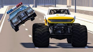 Crazy Police Chases #10 - BeamNG Drive Crashes