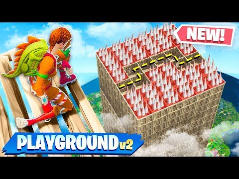 NEW DEATH MAZE GAMEMODE in FORTNITE PLAYGROUND MODE V2