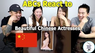 Asians react to TOP 10 Most beautiful Chinese Actresses In 2018 | 澳洲亞裔看中國十大最美混血女星!