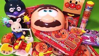 アンパンマン  歯医者さん ガブガブお菓子を食べたら虫歯になっちゃった!ミニミニチョコレート、グミ、コロコロビスケッチョ、ペロペロチョコ、ラムネにバイキンマンが虫歯菌注入!おもちゃ anpanman