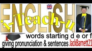 i-Teach-u USA ENGLiSH words starting D E or F _ _