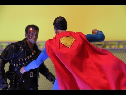 Superman VS Terminator Stop Motion Fan Film Hot Toys HD