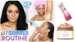 MY REALISTIC SHOWER ROUTINE -  HAIR TO TOE HYGIENE CARE | OMABELLETV