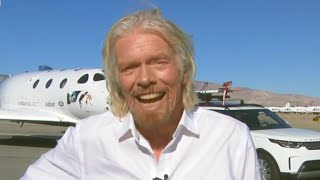"""A historic day"": Richard Branson on Virgin Galactic"