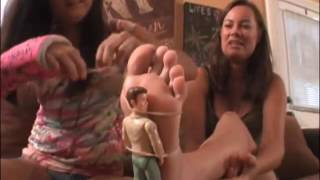 Mom and daugther soles on table with tiny man (Part 1)