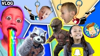 Guardians of the Galaxy Scare Cam / Chase's Twin / Snapchat Rainbow Puke + More (FUNnel Vision Vlog)