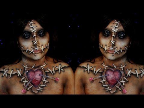 Voodoo Doll Halloween Makeup Tutorial Jordan Hanz Alex Faction