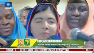 Network Africa: Malala Wants Nigerian Govt. To Declare Emergency In Education Sector