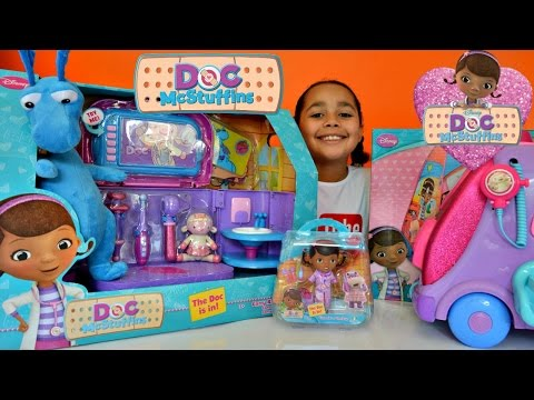 Doc McStuffins Carry Along Clinic - Doctor Kit - Doc Talking Mobile Kids Review And Play