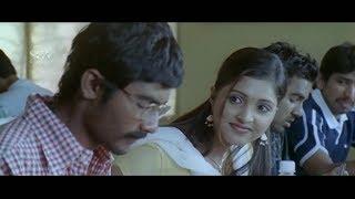 Lecturer scold Yogesh for sleeping in Class Room | Sanchitha | Ravana Kannada Movie Best Scenes