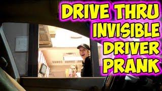 Drive Thru Invisible Driver Prank