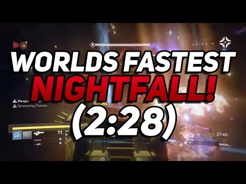 Destiny - Worlds Fastest Nightfall In 2:28! By Route